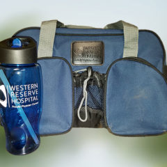 Duffle Bag and Bottle
