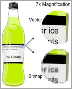 Vector/Bitmap Comparison 7x Magnification