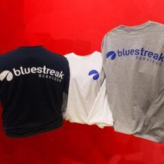 Shirts printed with company logo