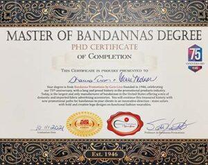 Master of Bandannas Degree for Avalon Image Group